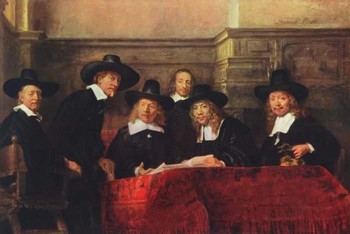 Rembrandt, Sei sindaci dei drappieri di Amsterdam (1662)
